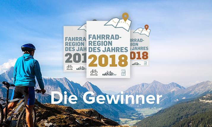 Die Fahrradregion des Jahres 2018 ist gewählt!